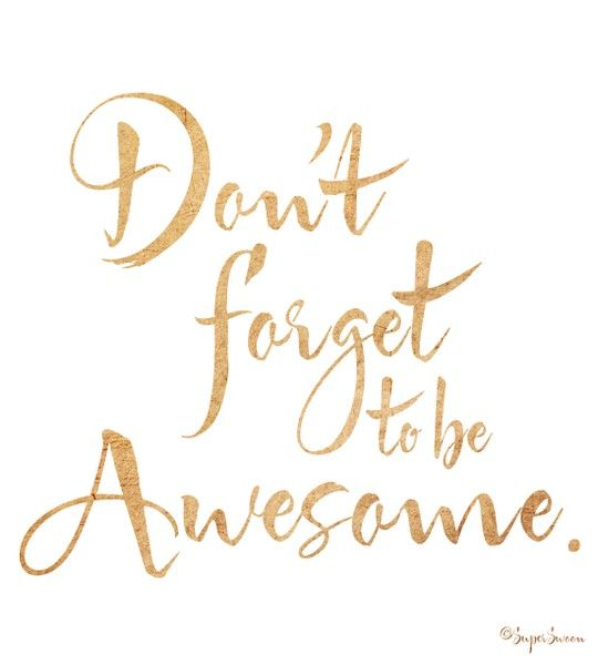 Be Awesome #BFAT