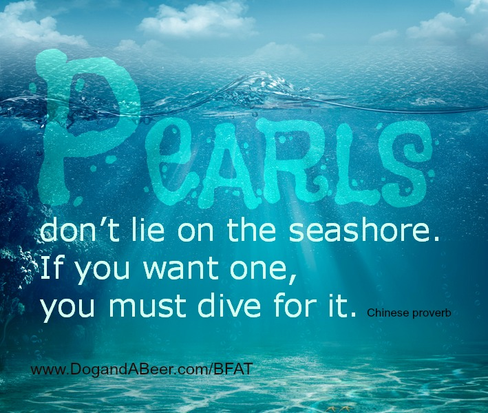 Pearls quote abstract ocean