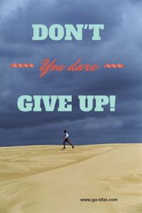 dont you dare give up infographic