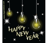 Happy New Year lightbulbs