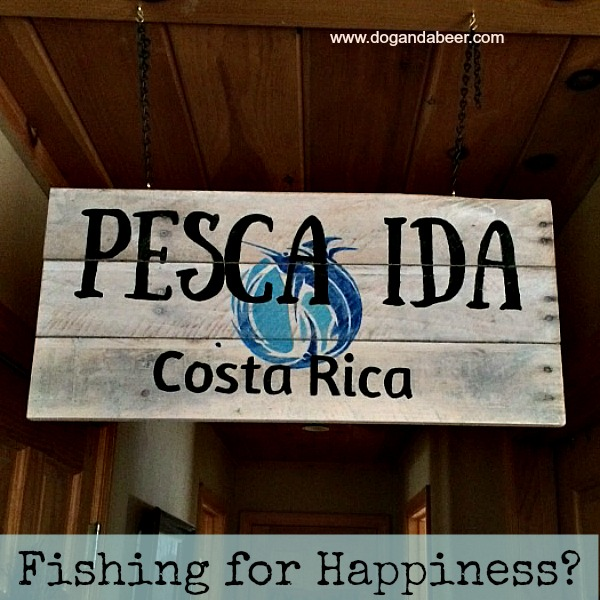 Pesca Ida Happiness Costa Rica Painted on reclaimed boards by Stephanie DelTorchio at www.dogandabeer.com